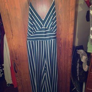 Vintage Style, Deep Green&white striped Jumper